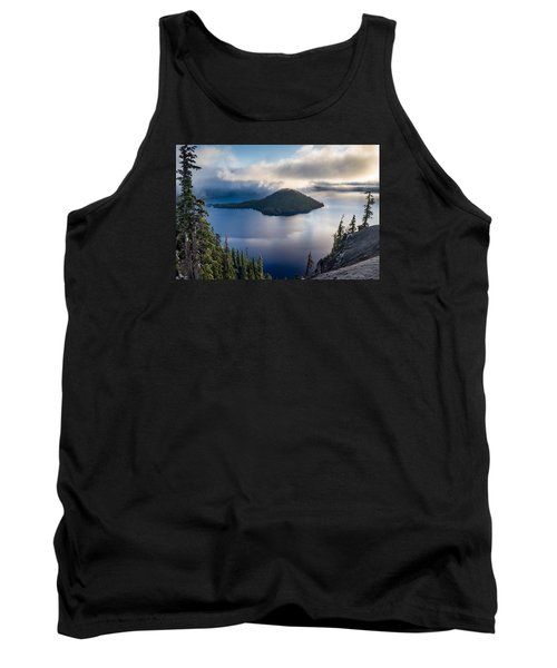 Peering At The Wizard Tank Top by Greg Nyquist