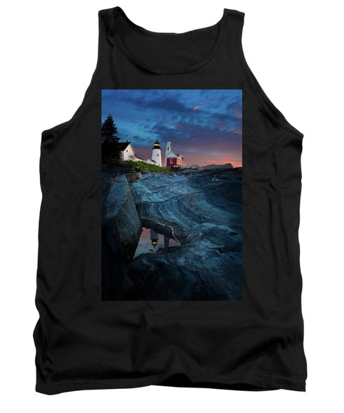 Pemaquid Lighthouse At Dawn Tank Top