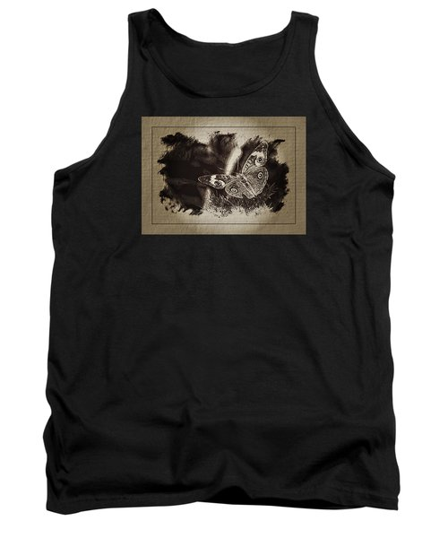 Pen And Ink Fall Butterfly Tank Top by Karen McKenzie McAdoo