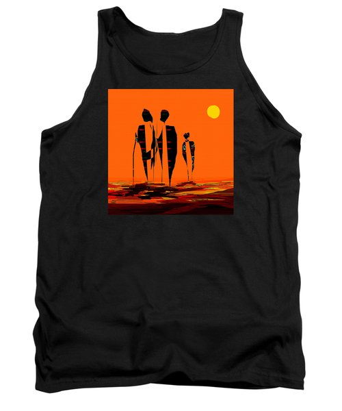 Tank Top featuring the painting Penman Origiinal-295-long Walk Home by Andrew Penman