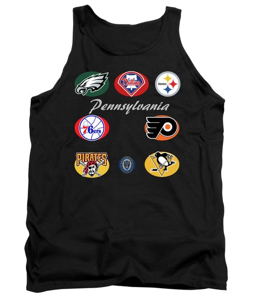 Pennsylvania Professional Sport Teams Collage  Tank Top by Movie Poster Prints