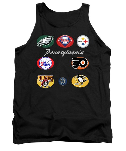 Pennsylvania Professional Sport Teams Collage  Tank Top