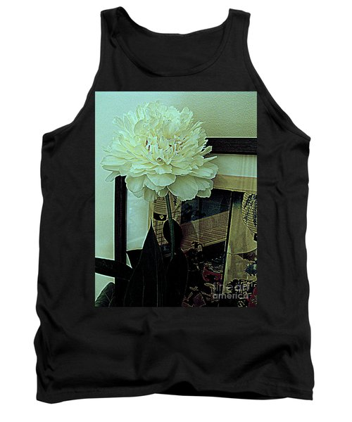 Tank Top featuring the photograph Peony Pose by Nancy Kane Chapman