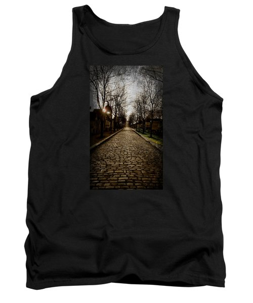 Pere Lachaise Cemetery Road 2 Tank Top by Katie Wing Vigil