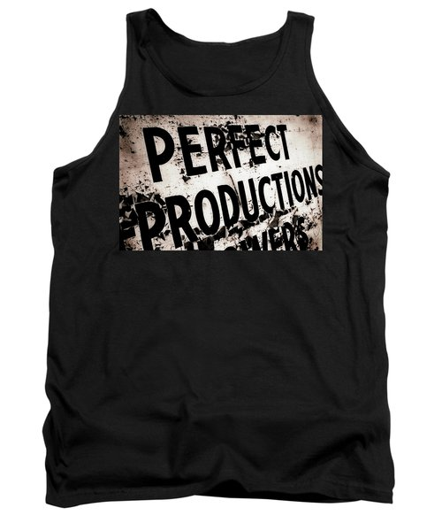 Perfect Productions Tank Top by Gray  Artus