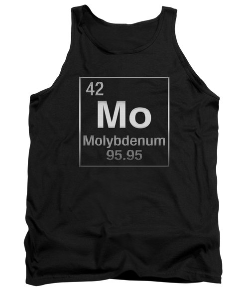 Periodic Table Of Elements - Molybdenum - Mo - On Black Tank Top