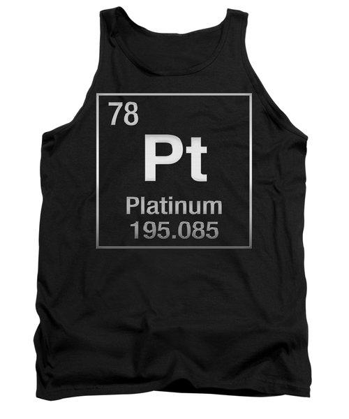 Periodic Table Of Elements - Platinum - Pt - Platinum On Black Tank Top