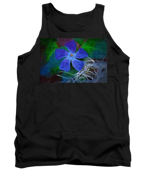 Tank Top featuring the digital art Periwinkle Blue by Donna Bentley