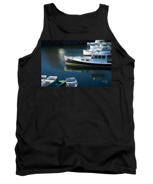 Perkins Cove Lobster Boats One Tank Top