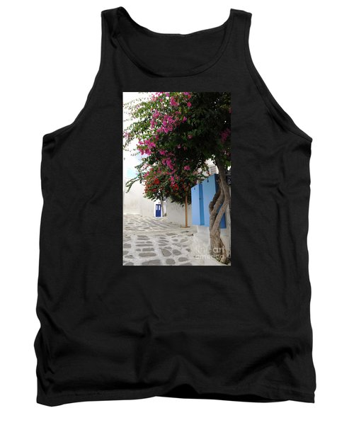 Tank Top featuring the photograph Perspective Blue Door by Haleh Mahbod
