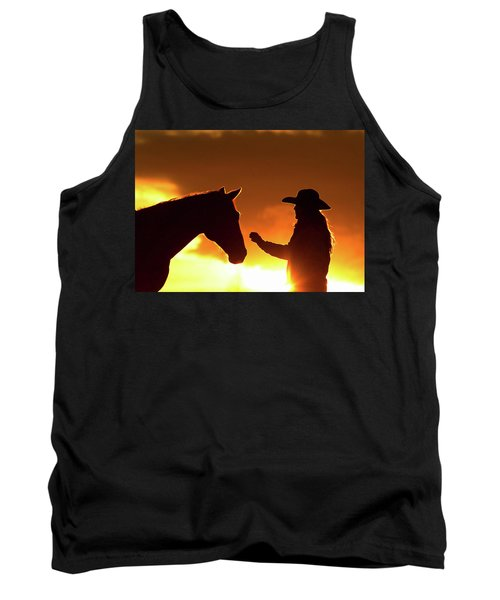 Cowgirl Sunset Sihouette Tank Top