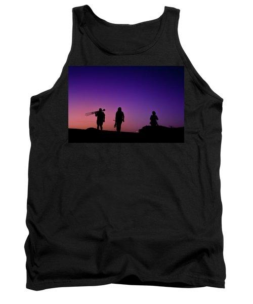 Photographers At Sunset Tank Top by Ralph Vazquez