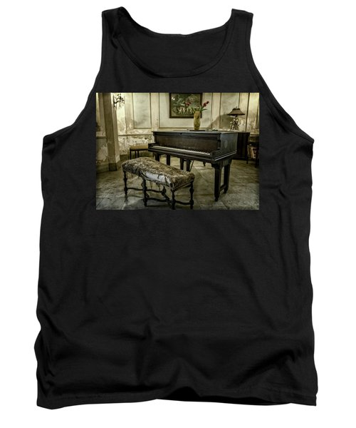 Tank Top featuring the photograph Piano At Josie's House by Joan Carroll