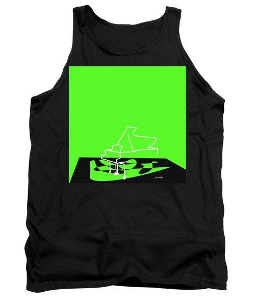 Tank Top featuring the digital art Piano In Green by Jazz DaBri