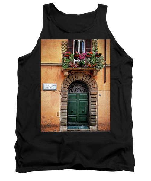 Tank Top featuring the photograph Piazza Navona House by Marion McCristall