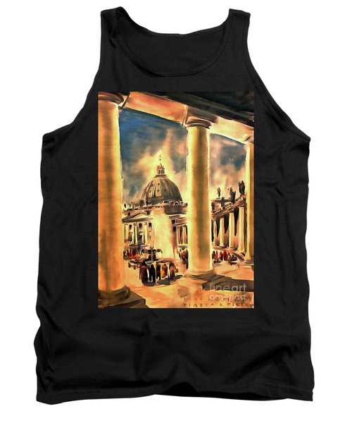 Piazza San Pietro In Roma Italy Tank Top