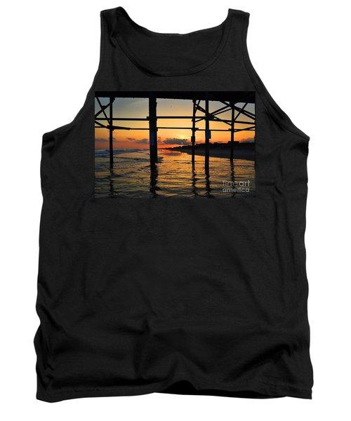 Oak Island Pier Sunset Tank Top