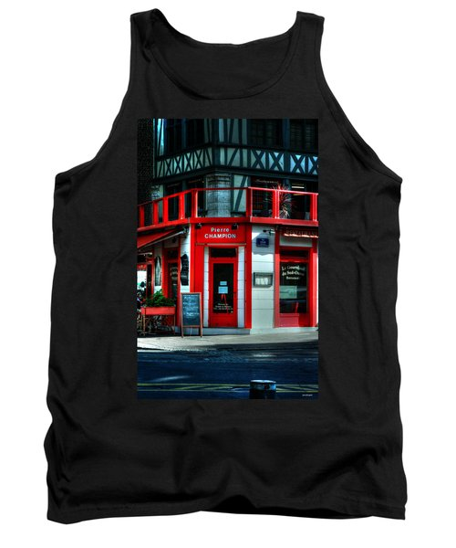Tank Top featuring the photograph Pierre Champion Rouen France by Tom Prendergast
