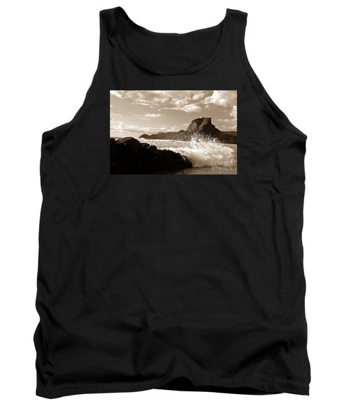 Tank Top featuring the painting Piha New Zealand Waves by Yurix Sardinelly