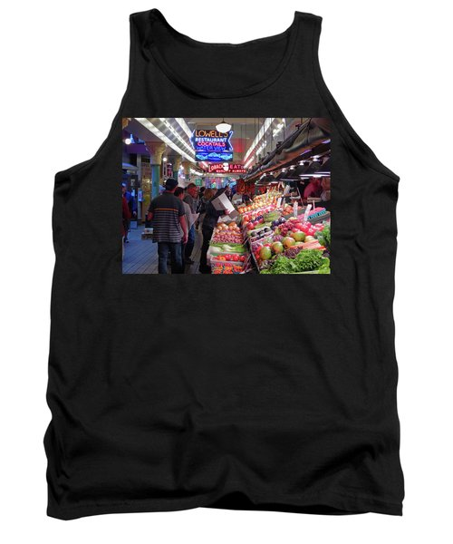 Tank Top featuring the photograph Pike Market Fruit Stand by Walter Fahmy