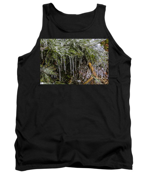 Tank Top featuring the photograph Pine Needlecicles by Barbara Bowen