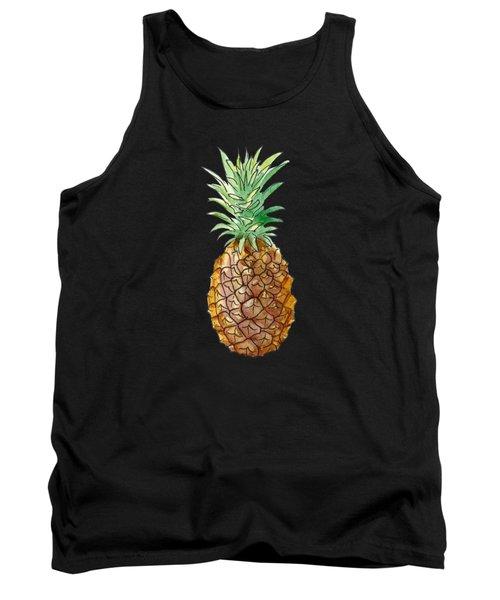 Pineapple On Black Tank Top