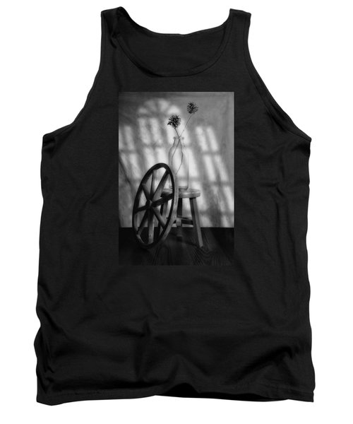 Tank Top featuring the photograph Pinecones In The Window by Tom Mc Nemar