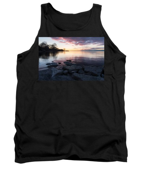 Pink And Gray Placidity Tank Top