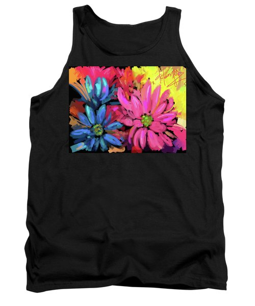 Tank Top featuring the painting Pink Flower by DC Langer