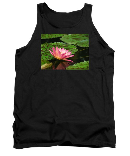 Pink Lily Reflection Tank Top