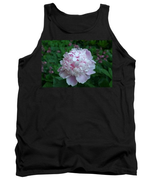 Tank Top featuring the digital art Pink Peony by Barbara S Nickerson