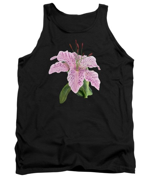 Pink Tiger Lily Blossom Tank Top