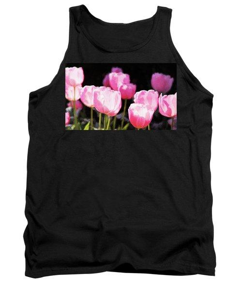 Pink Tulips Tank Top