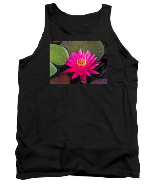 Pink Waterlily Garden Tank Top