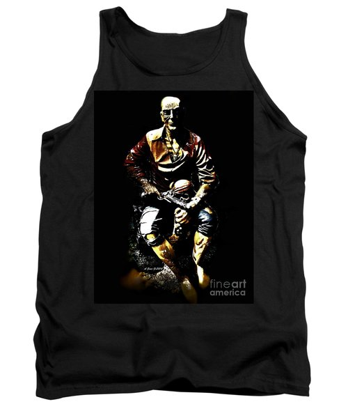 Tank Top featuring the photograph Pirate And Skull by Annie Zeno