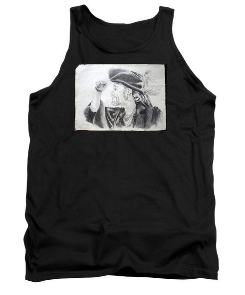 Pirate Mikey Portrait Drawing Tank Top by Shelley Overton