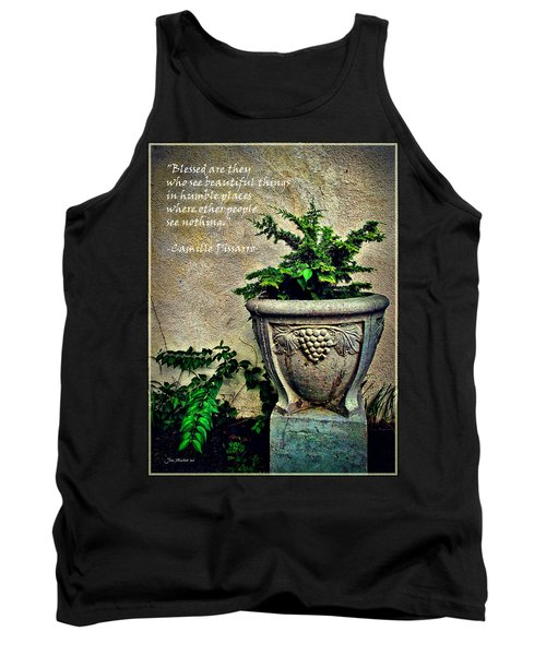 Pissarro Inspirational Quote Tank Top
