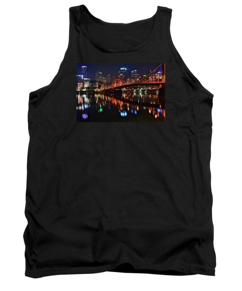 Pittsburgh Lights Tank Top by Frozen in Time Fine Art Photography