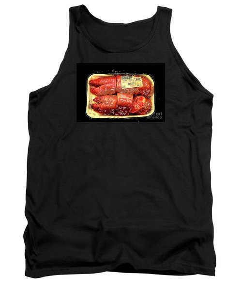 Plasticized..for Your Protection Tank Top by Joe Jake Pratt