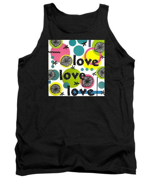 Tank Top featuring the mixed media Playful Love by Gloria Rothrock