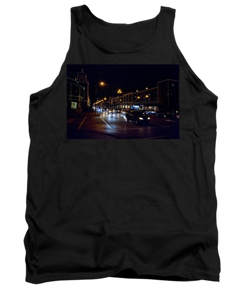 Tank Top featuring the photograph Plaza Lights by Jim Mathis