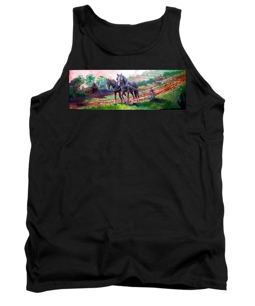 Ploughing Tank Top by Paul Weerasekera