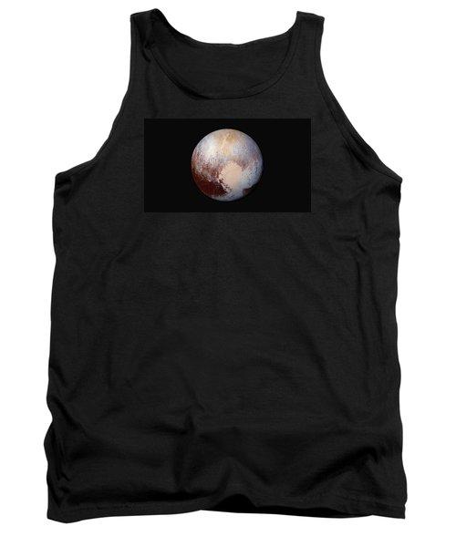Pluto Dazzles In False Color Tank Top by Nasa