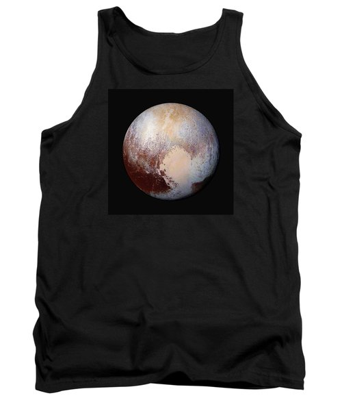 Pluto Dazzles In False Color - Square Crop Tank Top