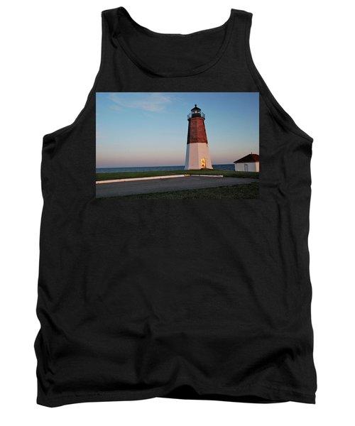 Point Judith Lighthouse Rhode Island Tank Top by Nancy De Flon