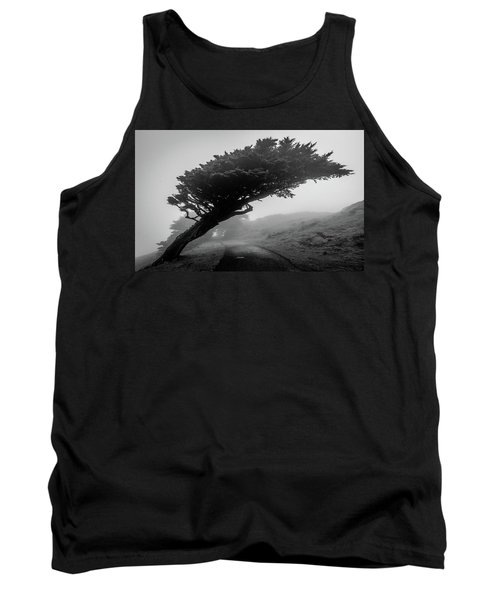 Point Reyes Fog Black And White Tank Top