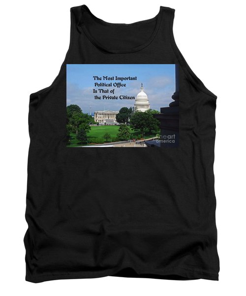 Tank Top featuring the photograph Political Statement by Gary Wonning