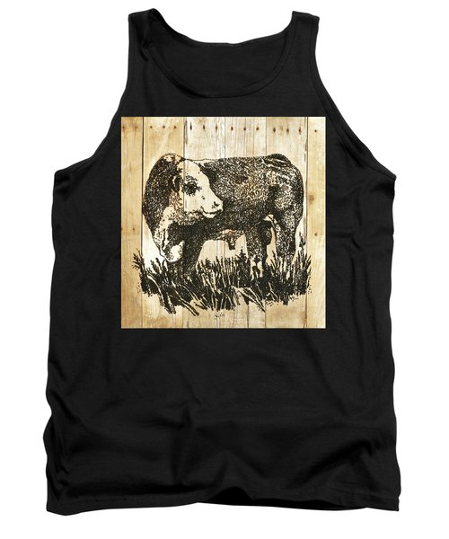 Polled Hereford Bull 11 Tank Top