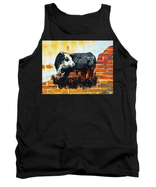 Polled Hereford Bull  Tank Top by Larry Campbell