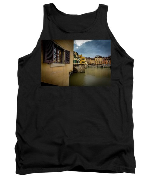 Tank Top featuring the photograph Ponte Vecchio by Sonny Marcyan